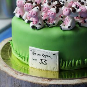 Торт 33 коровы или Как ни крути мне 33