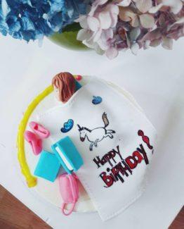 Торт для девочки с единорогом