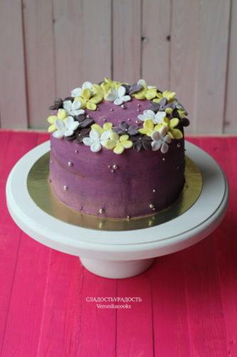 красивые торты с цветами