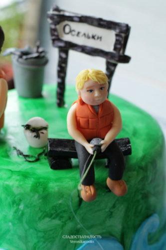 торт для мужчины рыбака