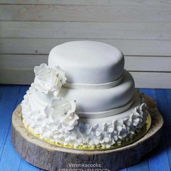 свадебный торт с мастикой на заказ спб