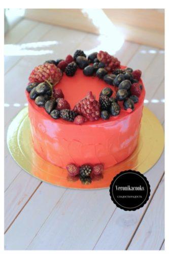 малиновый торт летний