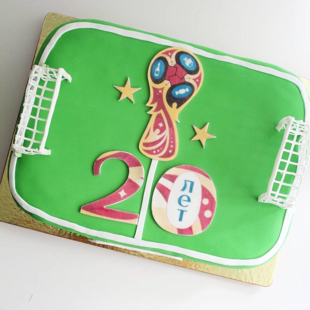 торт футбольное поле на заказ