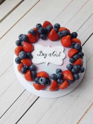 торт сюрприз пол ребенка