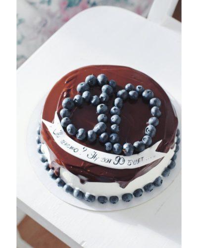 диетический торт с цифрой для пенсионера