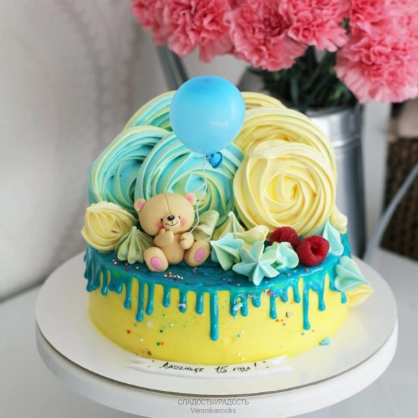 Торт с мишкой для мальчика