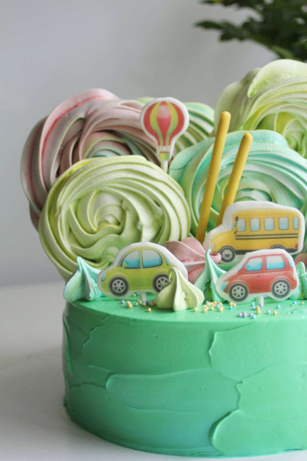 детский торт с машинками