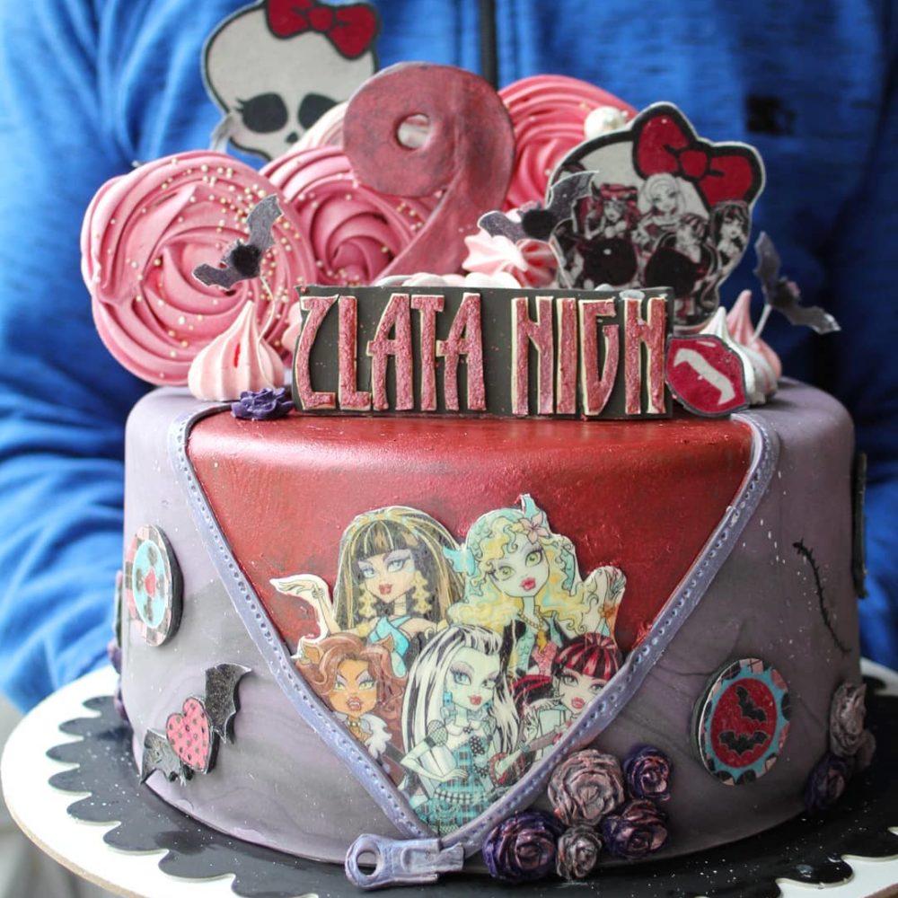 торт монстер хай на заказ на день рождения