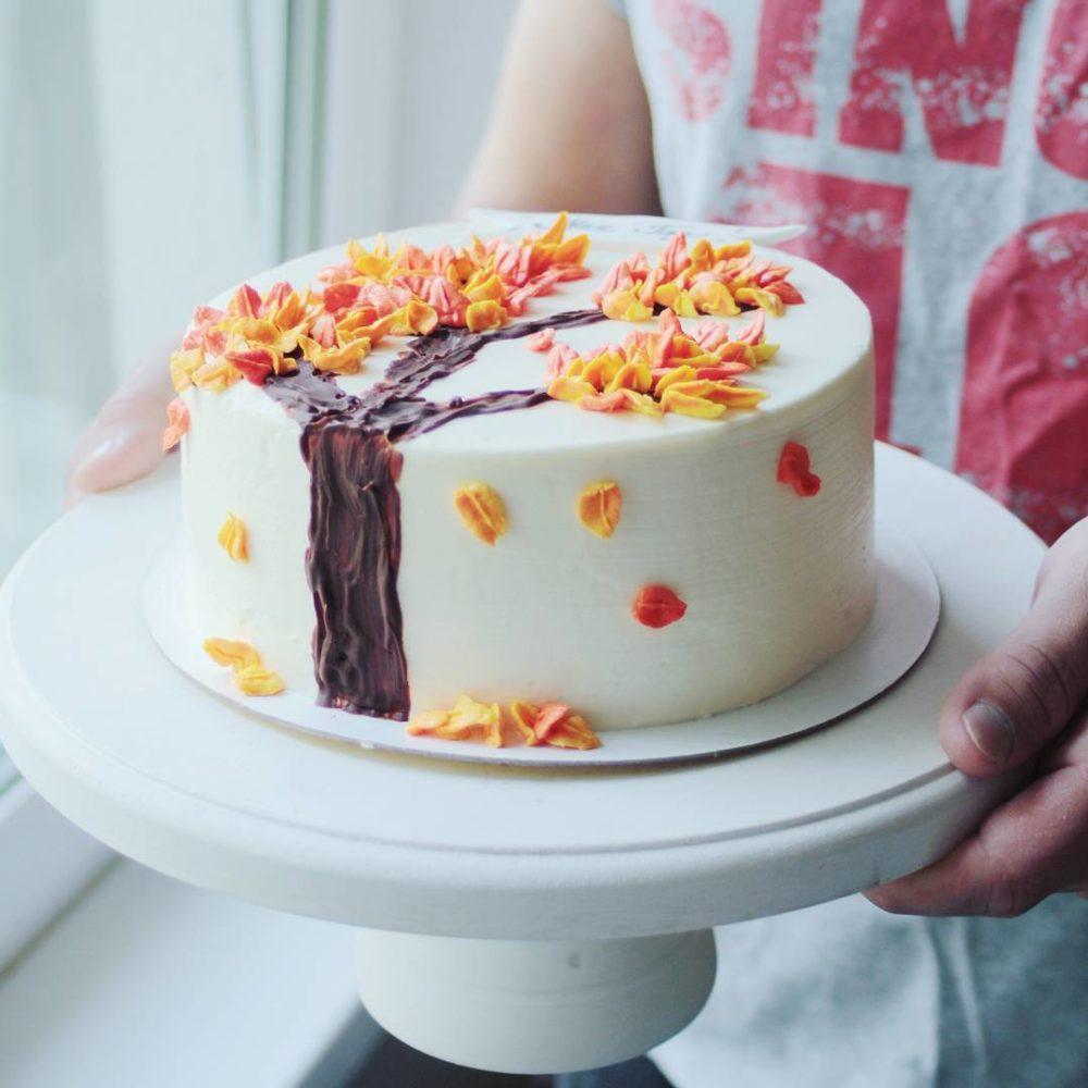 осенний торт на заказ в спб