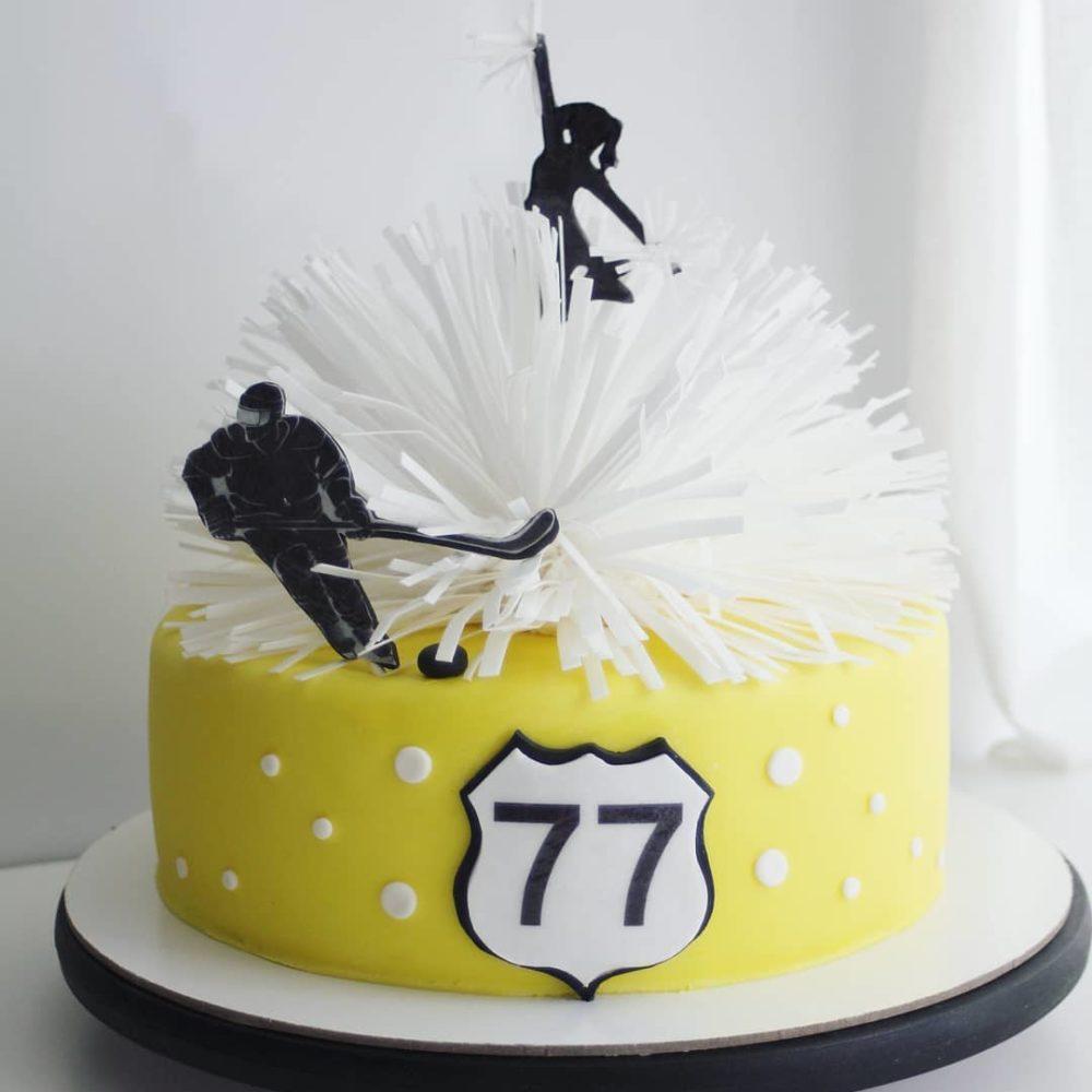 торт для хоккеиста с днем рождения