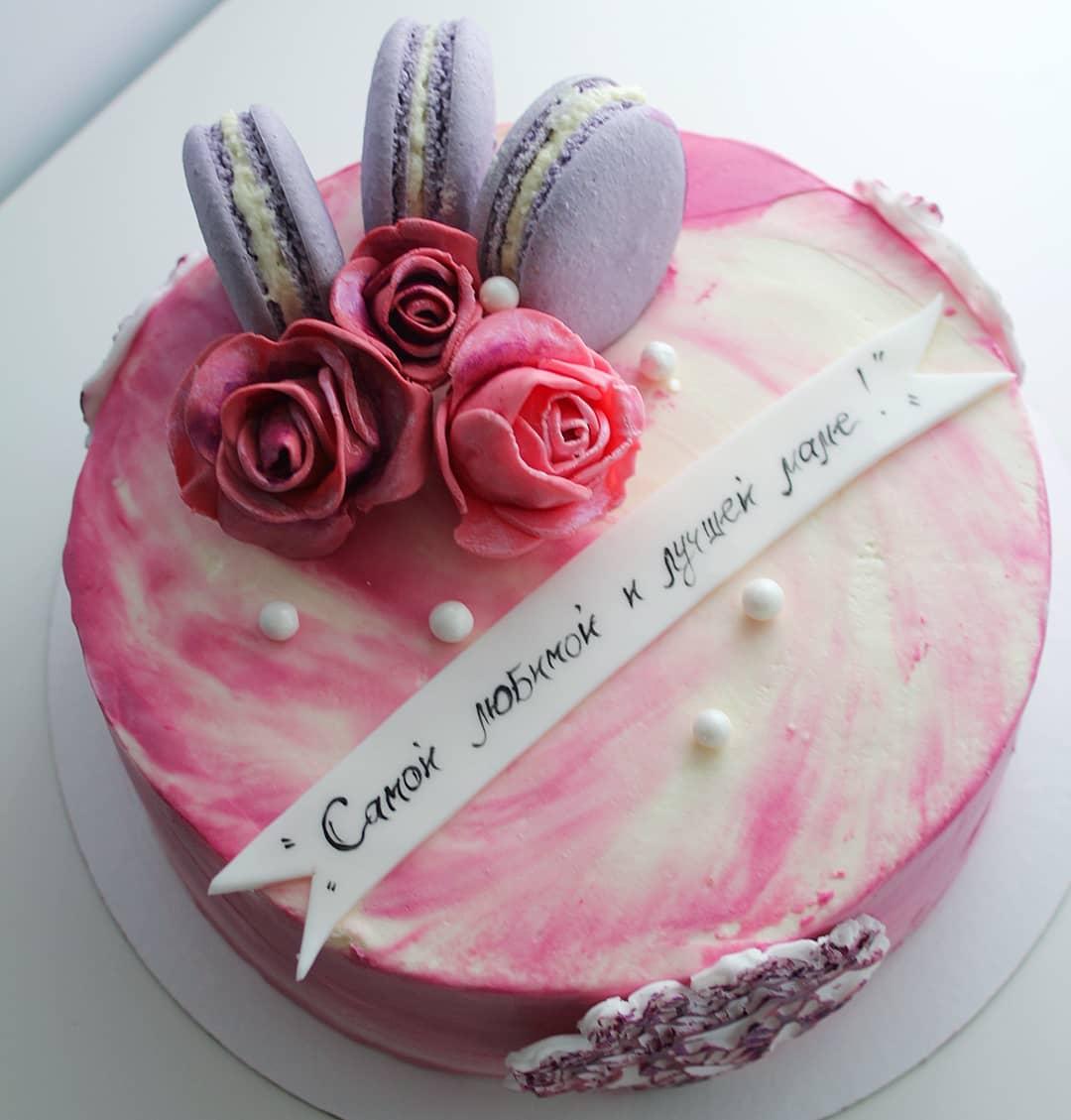 торты на заказ маме на день рождения фото