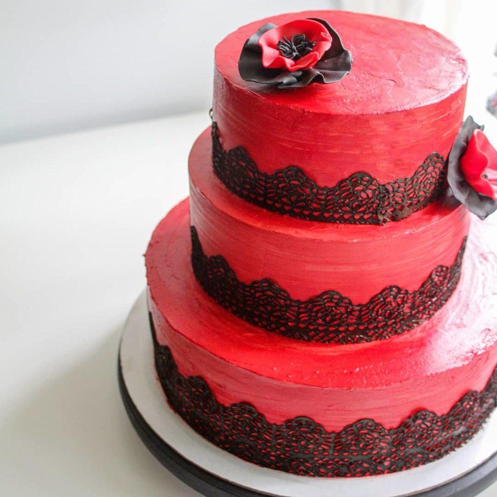 испанский торт с маками
