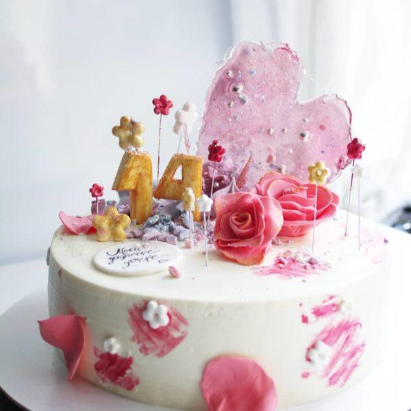 торт дочке без мастики на заказ в спб