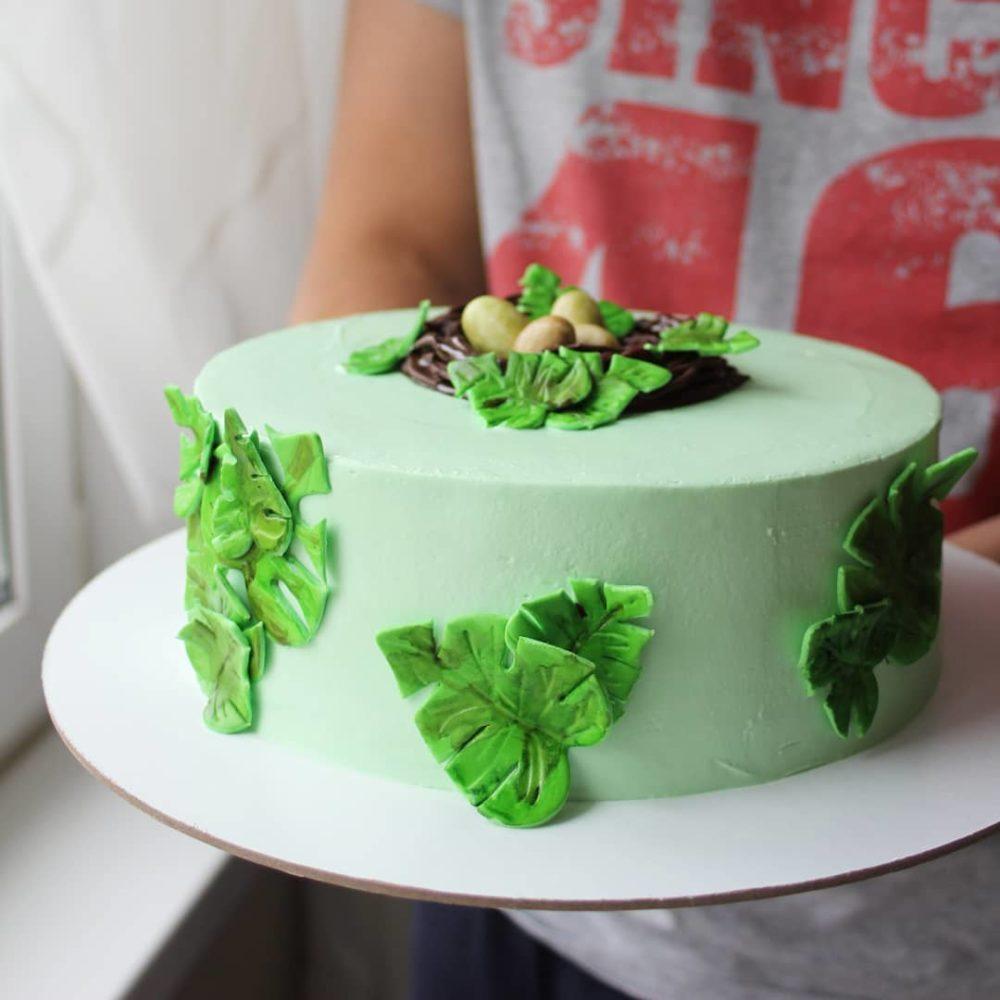 торт гнездо без мастики на заказ
