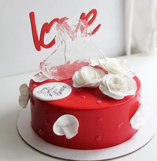 торт любовь без мастики на заказ в спб
