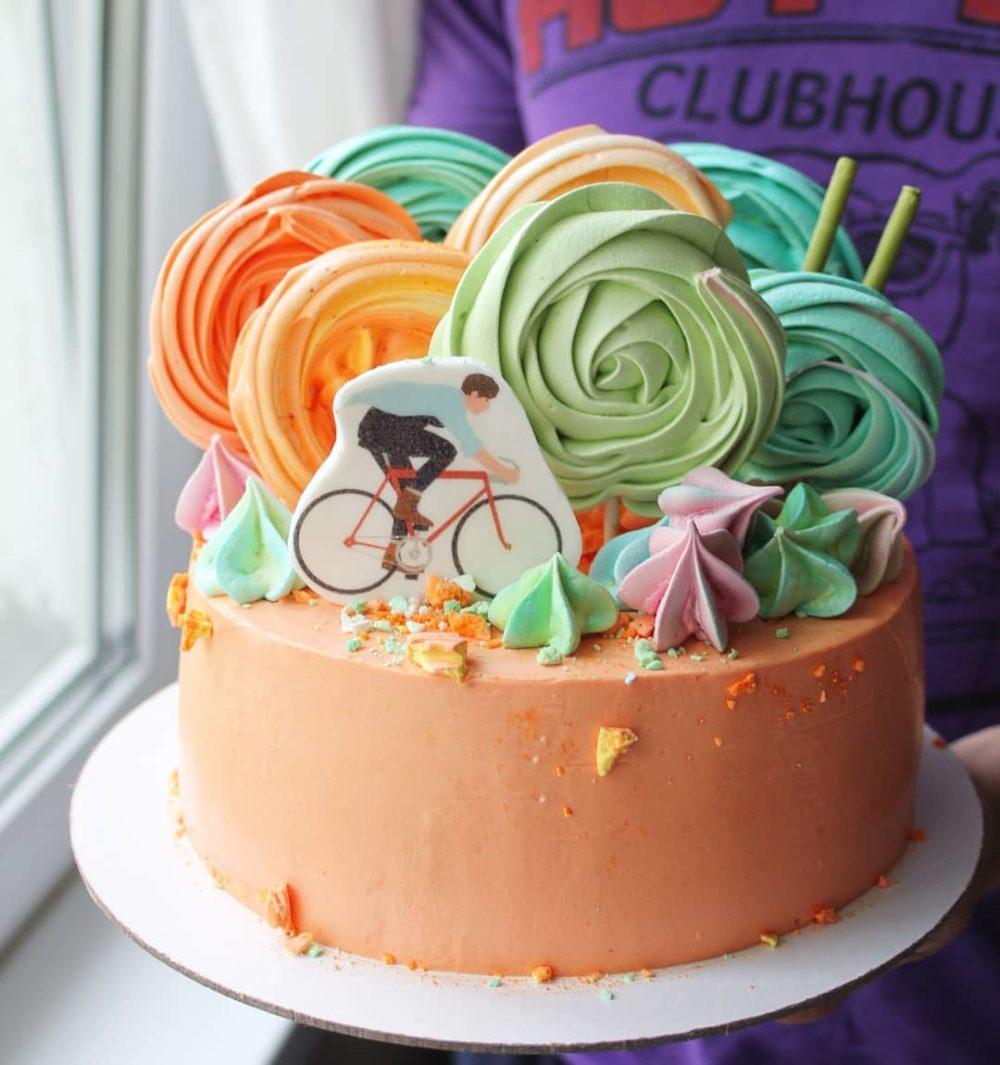 торт с велосипедом на заказ в Спб