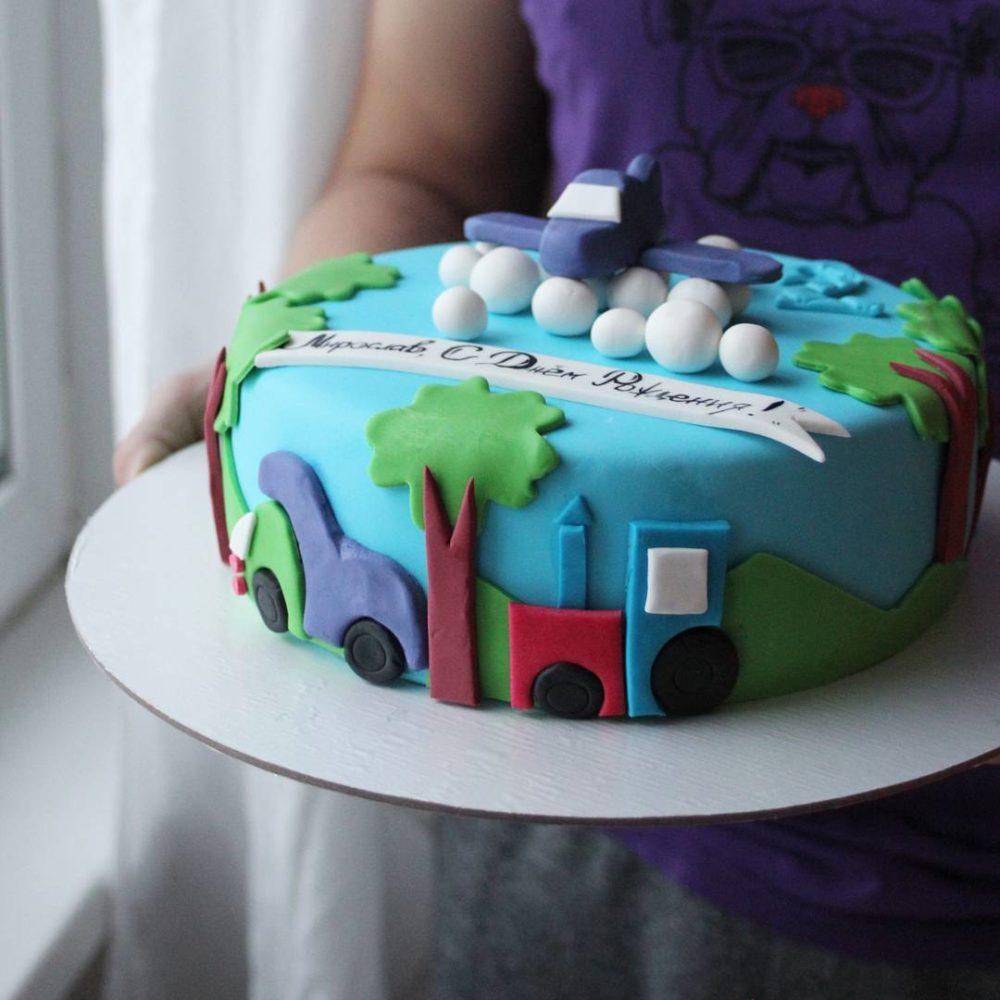 торт с вертолетом для мальчика на заказ в спб