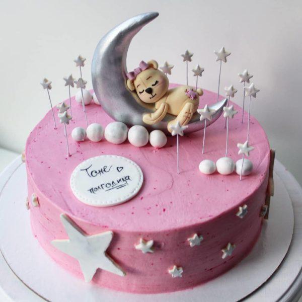торт мишка на луне