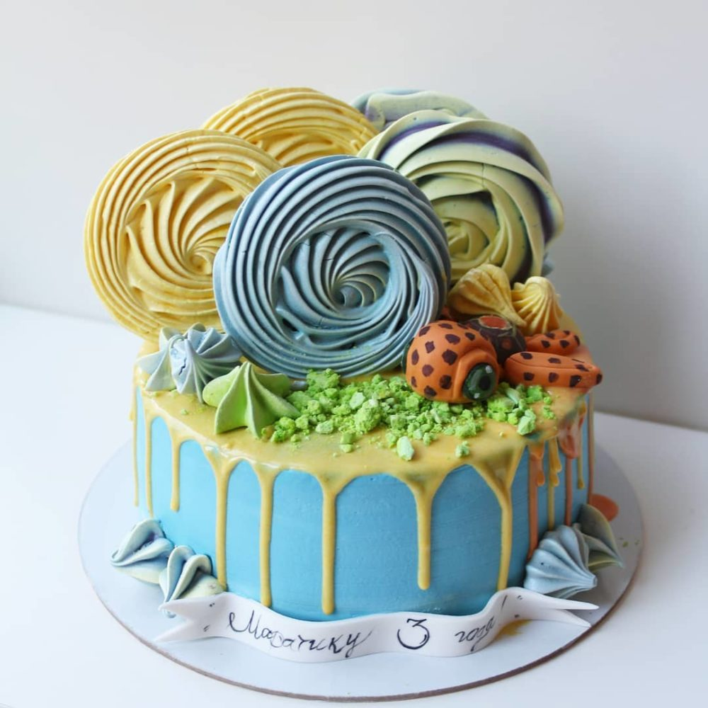 торт с черепахой
