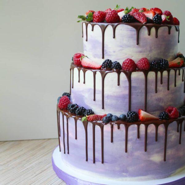 свадебный торт фиолетовый