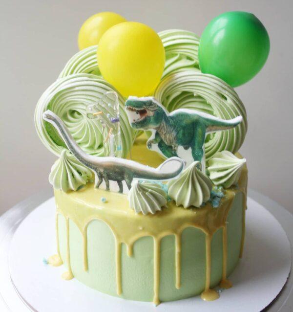торт динозавры