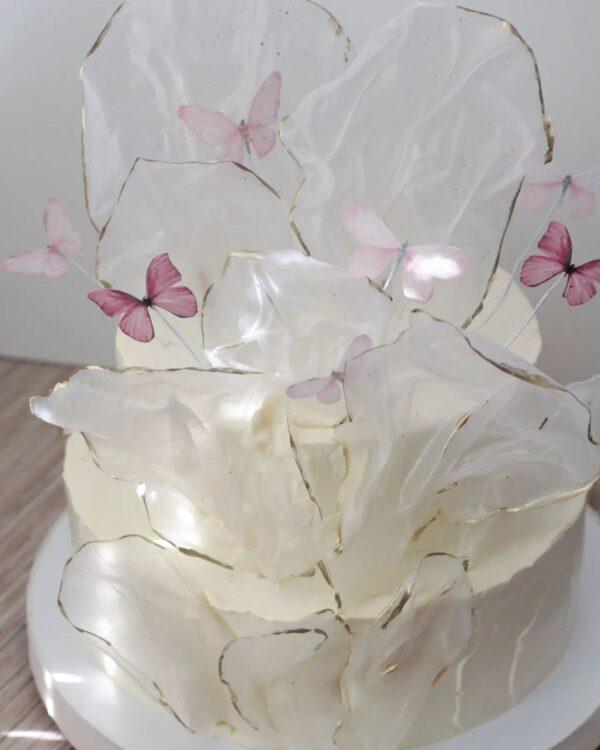торт с рисовыми парусами